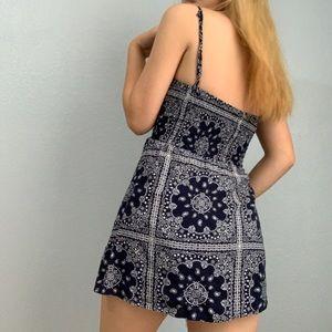 Aeropostale Dresses - navy blue and white paisley sundress